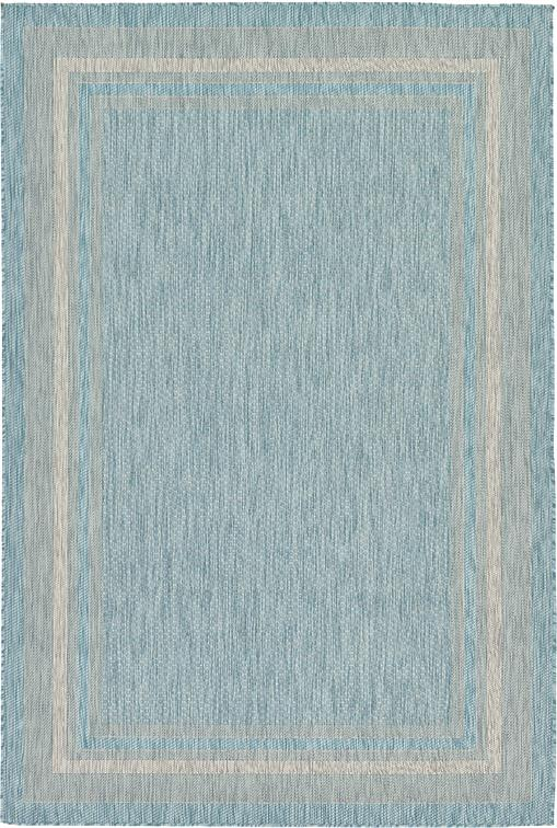 Aquamarine 6 X 9 Outdoor Border Rug Area Rugs Irugs Uk