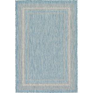 Unique Loom 4' x 6' Outdoor Border Rug