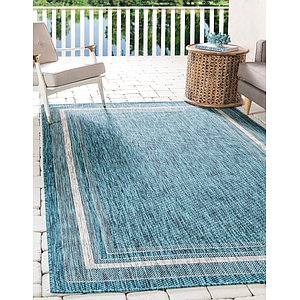 Unique Loom 5' x 8' Outdoor Border Rug