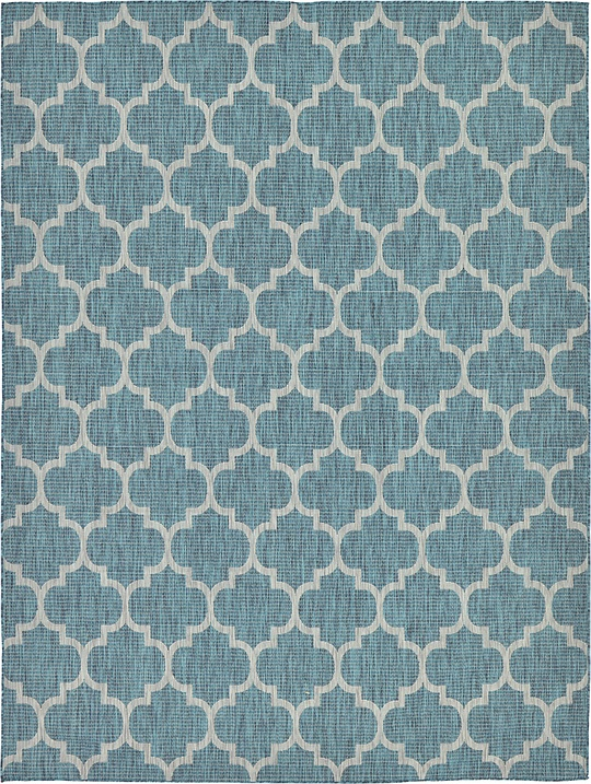 Teal 9 X 12 Outdoor Trellis Rug Area Rugs Esalerugs