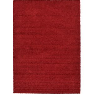 8x11 Red Solid Frieze  Rugs!
