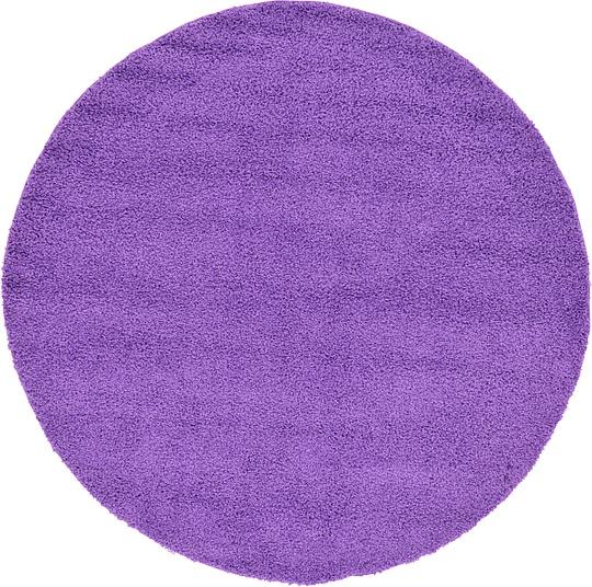 Purple Circle Rugs: Purple 183cm X 183cm Solid Frieze Round Rug