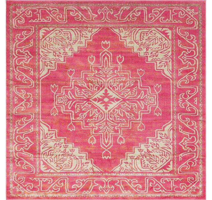 Pink Delilah Square Rug