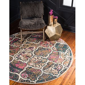 Unique Loom 8' x 8' Aurora Round Rug