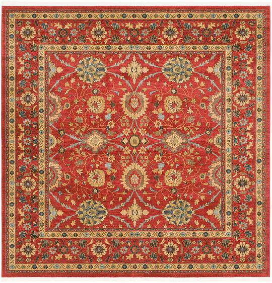 Red 8 X 8 Kensington Square Rug Area Rugs Irugs Uk