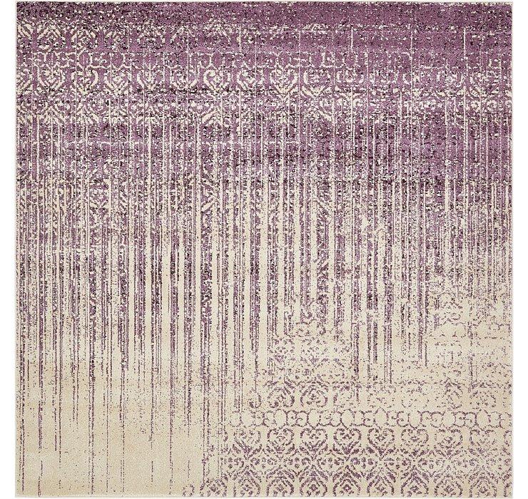 Purple Angelica Square Rug