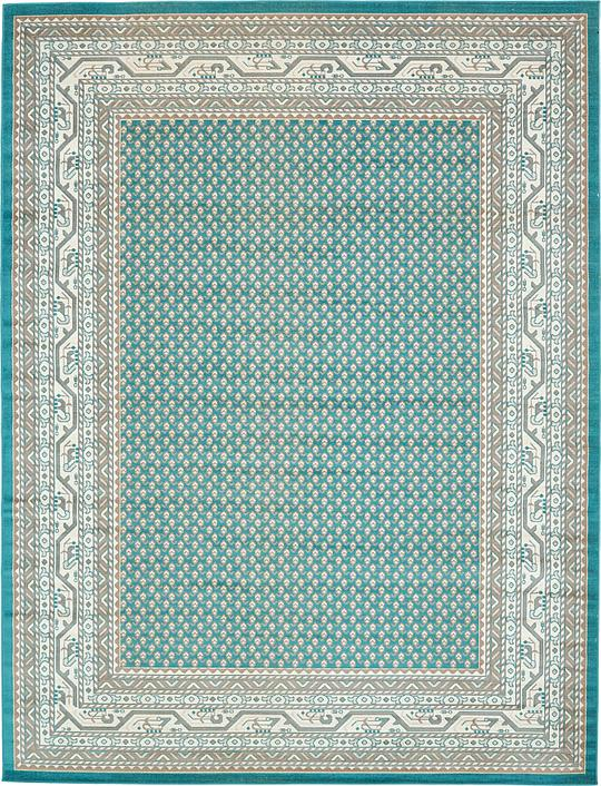 teal 9 39 x 12 39 tribeca rug area rugs esalerugs. Black Bedroom Furniture Sets. Home Design Ideas