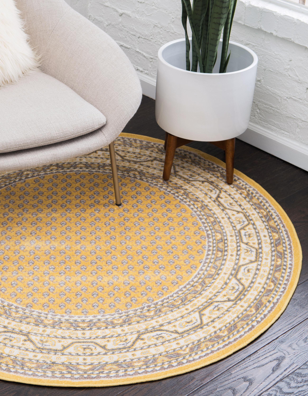 Yellow 8 X Tribeca Round Rug Erugs