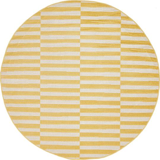 Yellow 5 39 x 5 39 tribeca round rug area rugs esalerugs for Yellow rug ikea