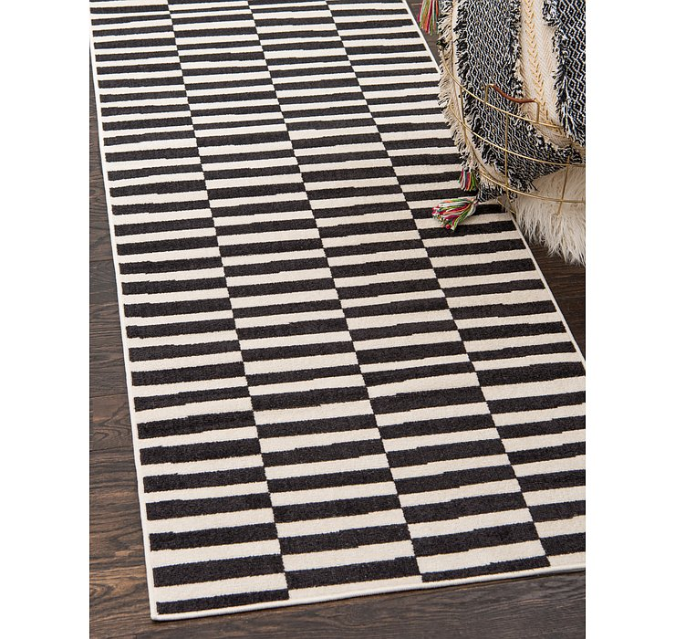 Black SoHo Runner Rug