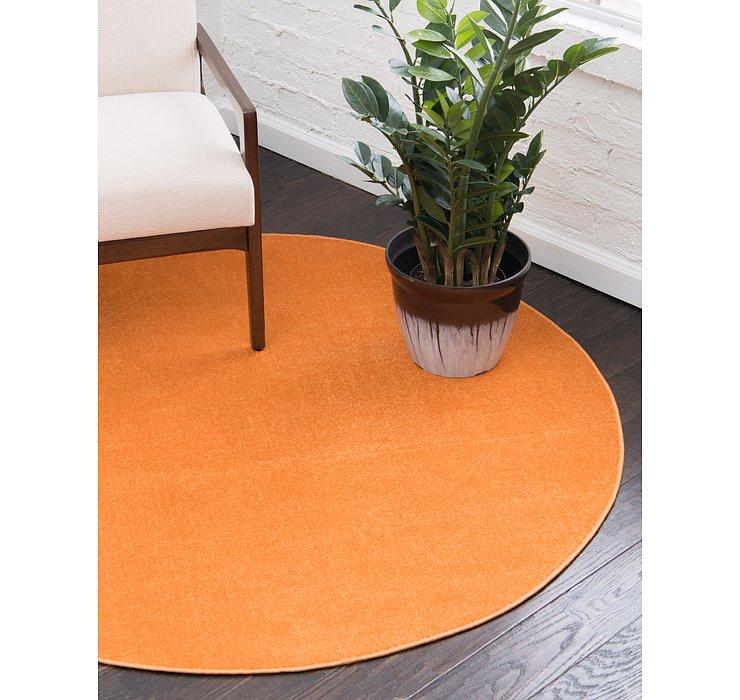 Orange SoHo Round Rug