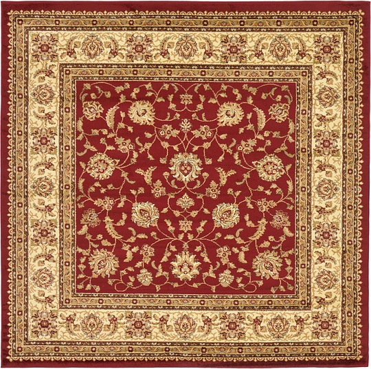 Red 8 X 8 Classic Agra Square Rug Area Rugs Esalerugs