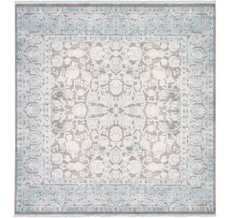8' x 8' New Vintage Square Rug