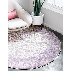 Link to 6' x 6' New Vintage Round Rug page