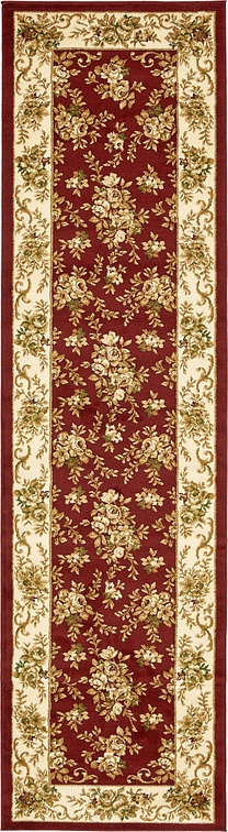 Burgundy 2 7 X 10 Classic Aubusson Runner Rug Area