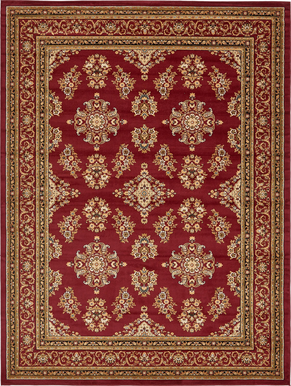 Burgundy 9 10 X 13 Isfahan Design Rug Esalerugs