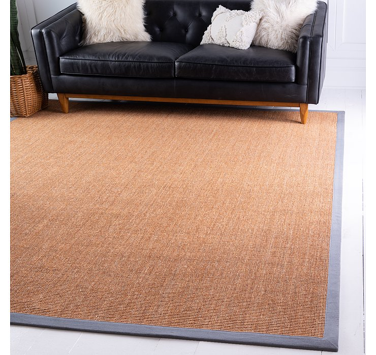 Light Brown Sisal Square Rug