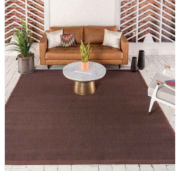 Brown Sisal Square Rug