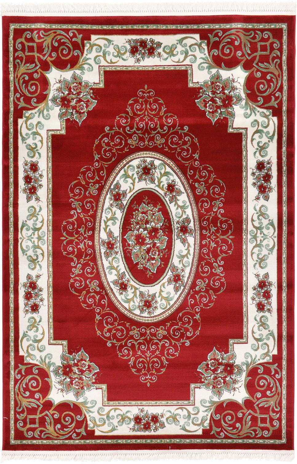Red 6 7 X 9 6 Classic Aubusson Rug Area Rugs Rugs Ca