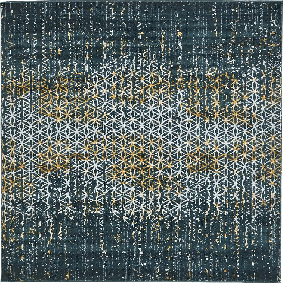 Teal 6 X 6 Illusion Square Rug Area Rugs Rugs Com