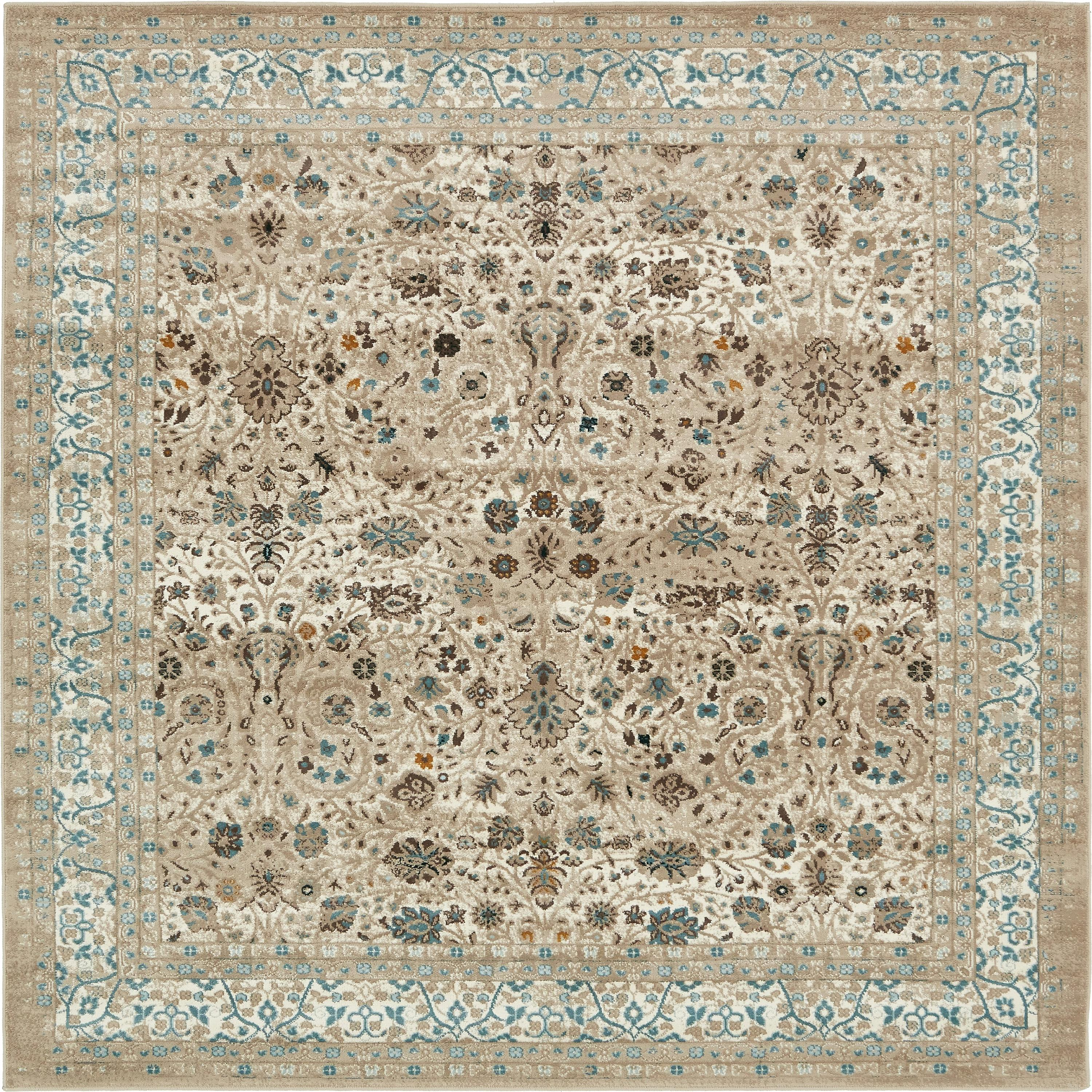 Taupe 6 X 6 Montreal Square Rug Esalerugs