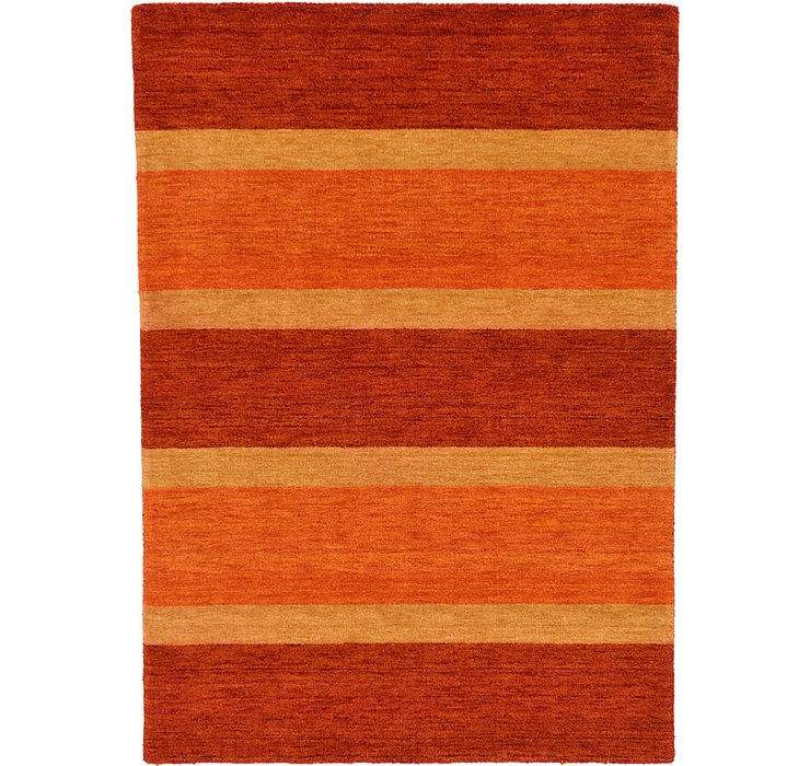 HandKnotted 4' 7 x 6' 5 Indo Gabbeh Rug