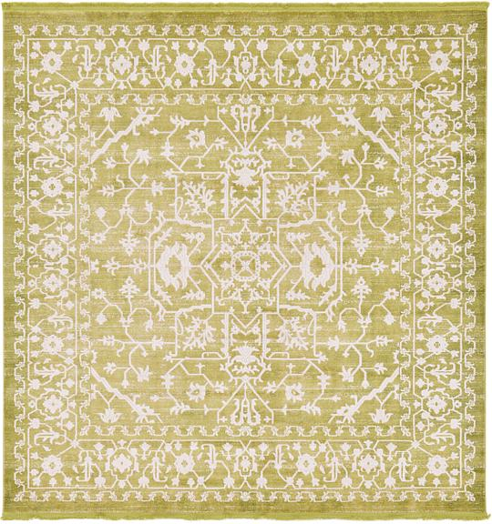 Light Green 8 X 8 New Vintage Square Rug Area Rugs