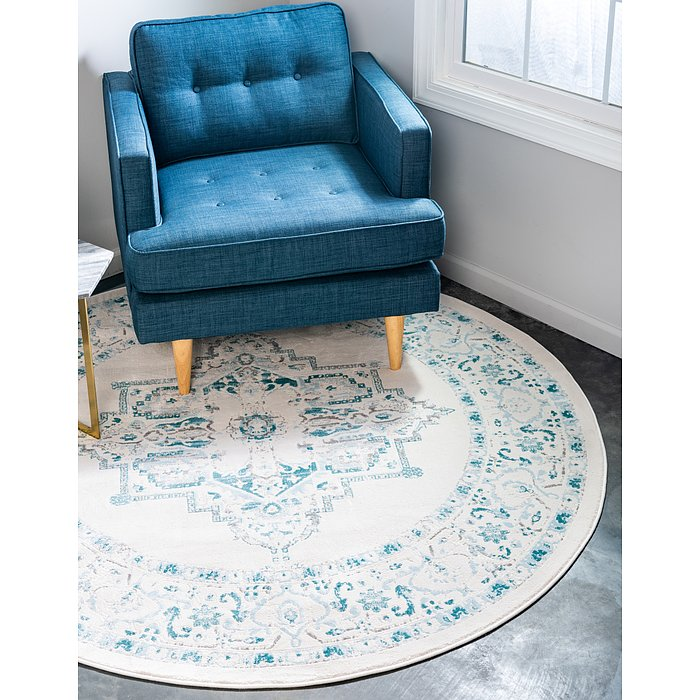 8' x 8' New Classical Round Rug