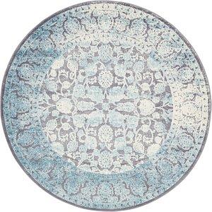 6' x 6' New Vintage Round Rug