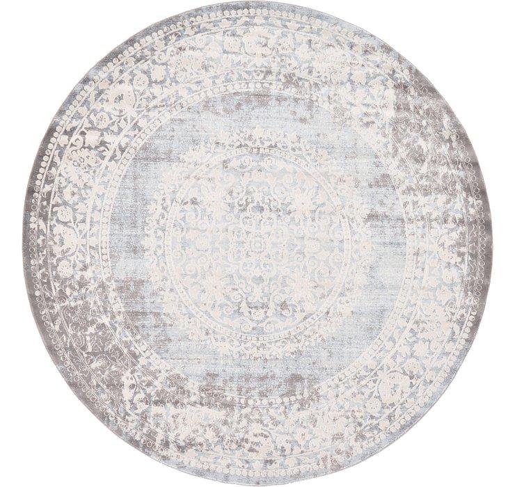 8' x 8' New Vintage Round Rug