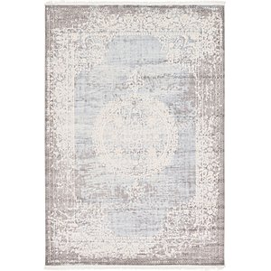 7x10 Blue New Vintage  Rugs