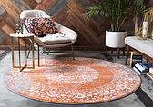 245cm x 245cm New Vintage Round Rug thumbnail image 2