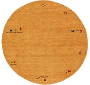 Link to HandKnotted 6' 6 x 6' 6 Indo Gabbeh Round Rug