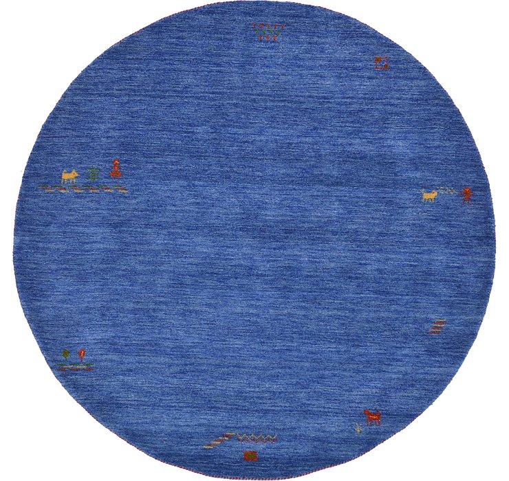 Blue Indo Gabbeh Round Rug