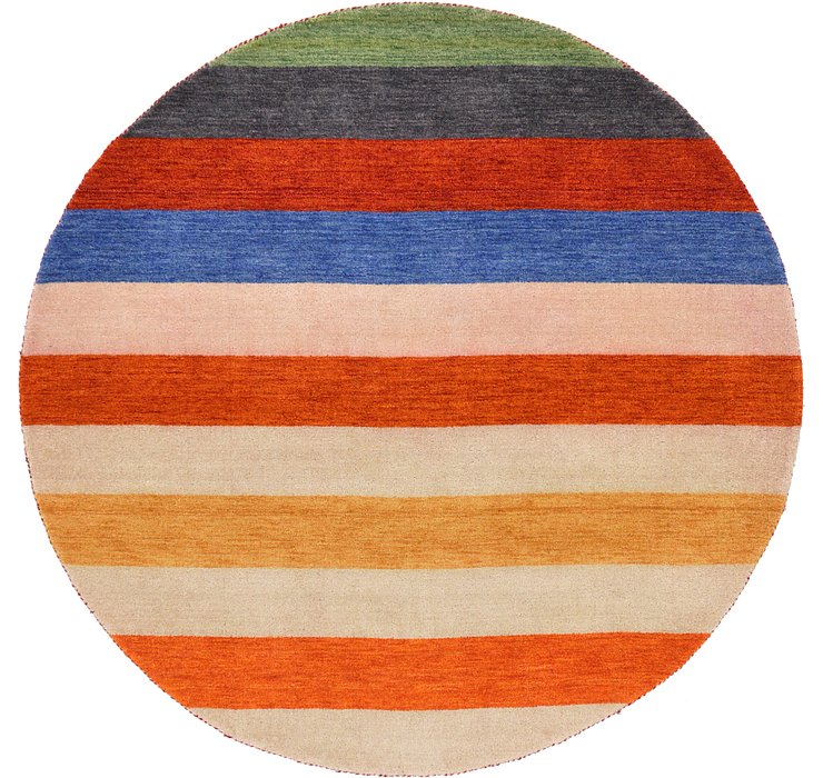 6' 4 x 6' 4 Indo Gabbeh Round Rug