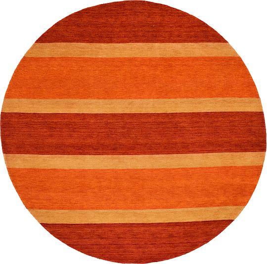 Shop Oriental Persian Gabbeh Shades Of Orange Hand Knotted: Multi 9' 8 X 9' 8 Indo Gabbeh Round Rug