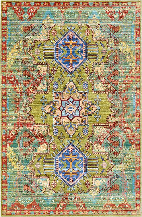 Light Green 5 X 8 Aqua Rug Area Rugs Esalerugs