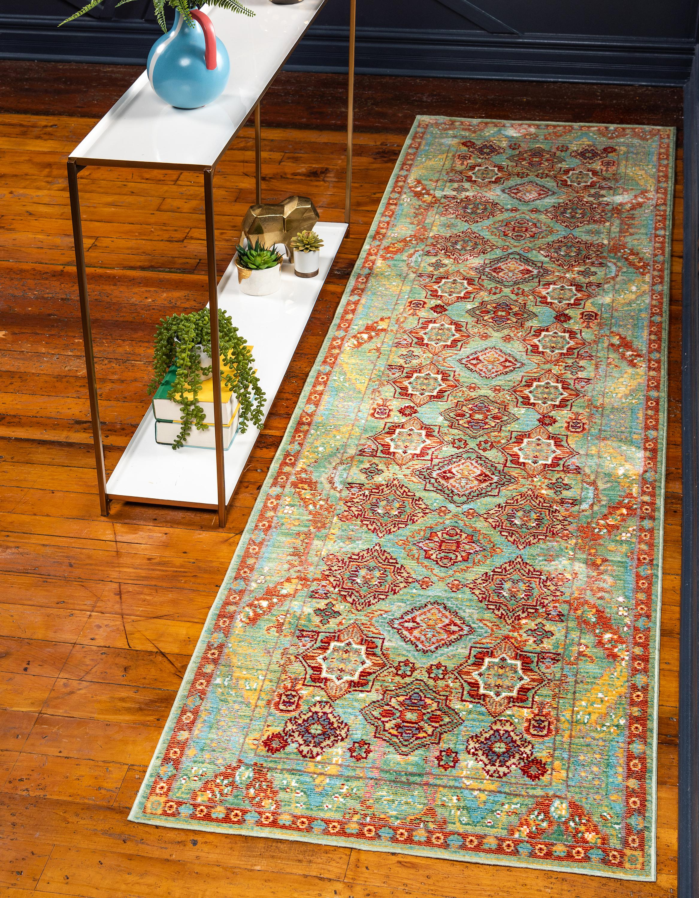 Green 2 7 X 9 10 Alexis Runner Rug Rugs Com
