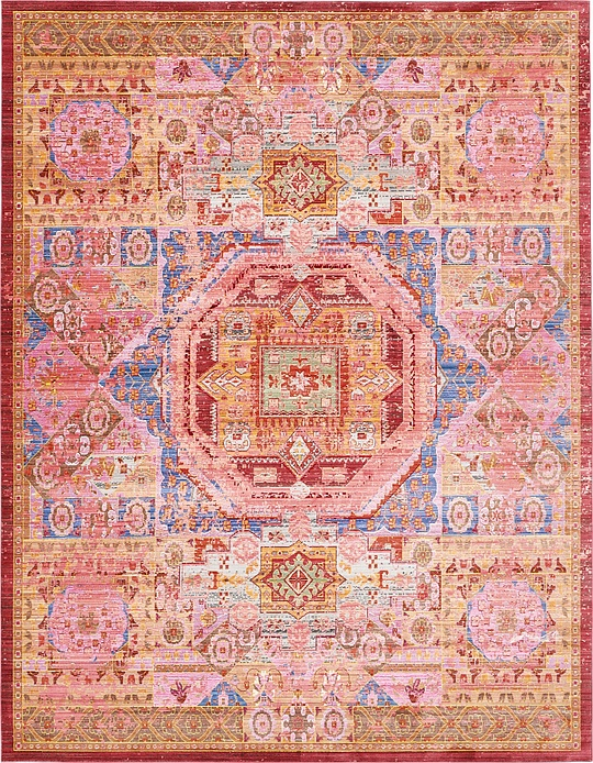 Peach 9 39 x 12 39 aqua rug area rugs esalerugs for Living room rugs 9x12