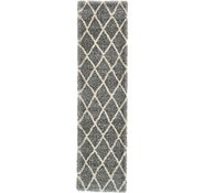 Link to 2' 7 x 10' Luxe Trellis Shag Runner Rug