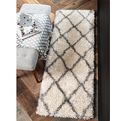 Link to Unique Loom 2' x 6' Opulence Trellis Shag Runner Rug