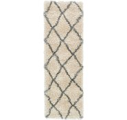 Link to 2' x 6' Luxe Trellis Shag Runner Rug