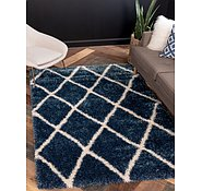 Link to 122cm x 183cm Luxe Trellis Shag Rug