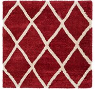 Link to 245cm x 245cm Luxe Trellis Shag Square Rug