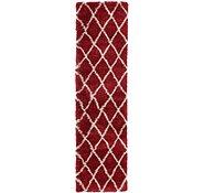 Link to 80cm x 305cm Luxe Trellis Shag Runner Rug