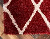 60cm x 183cm Luxe Trellis Shag Runner Rug thumbnail