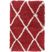Link to 2' 2 x 3' Luxe Trellis Shag Rug