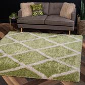 245cm x 245cm Luxe Trellis Shag Square Rug thumbnail image 1