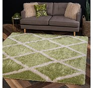 Link to Unique Loom 8' x 8' Opulence Trellis Shag Square Rug