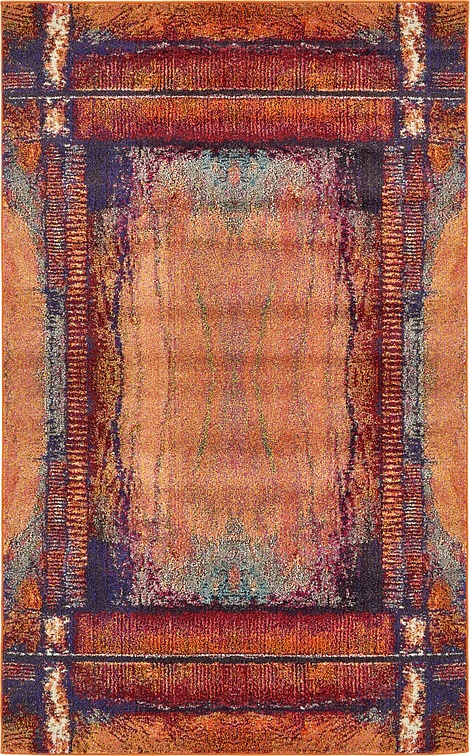 Orange 5 X 8 Casablanca Rug Area Rugs Esalerugs